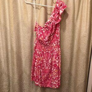 Cotton Lilly Pulitzer One-Shoulder Dress!